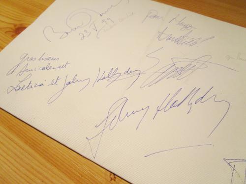 Autographe johnny et laetitia  menu cannes 1999 (5)